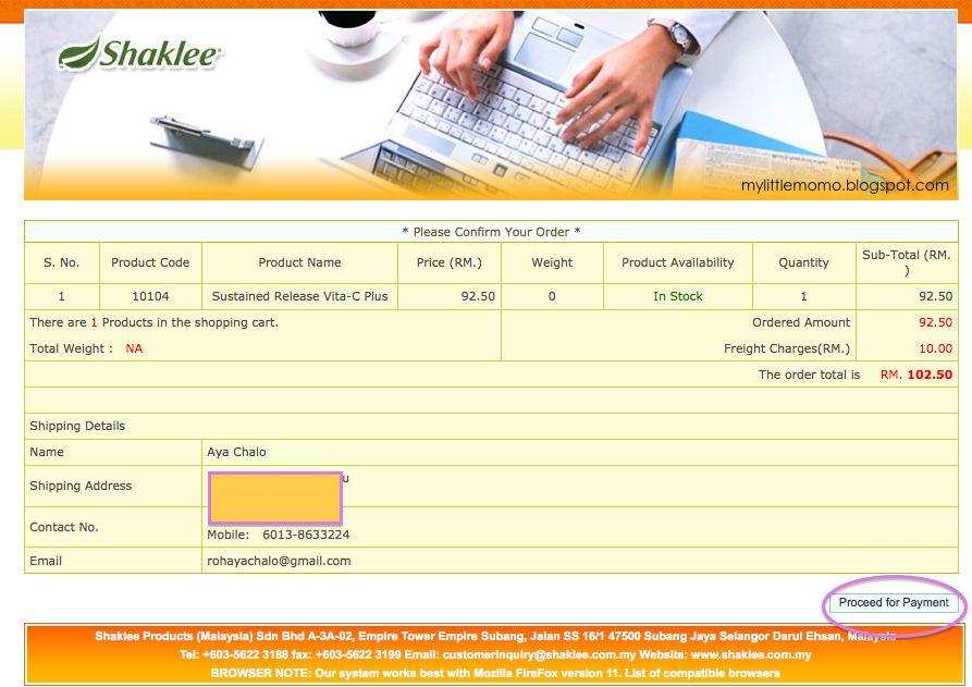 Customer User Guide Shaklee eSell