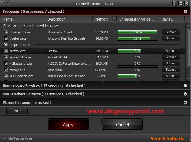 Game Booser services