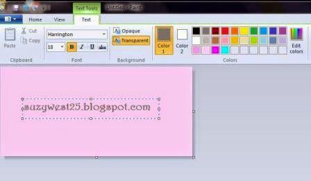 Cara Membuat Tulisan Sederhana Dengan Windows Paint