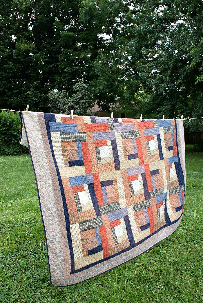 how to overdye a quilt - before