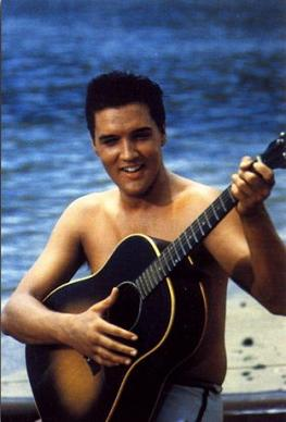 "Elvis w ""Blue Hawaii"""