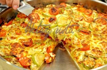 Kabaklı Domatesli Pizza Tarifi