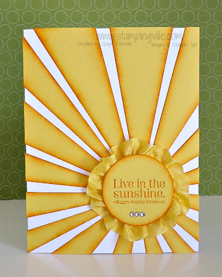 Live in the Sunshine - uplifting greeting card