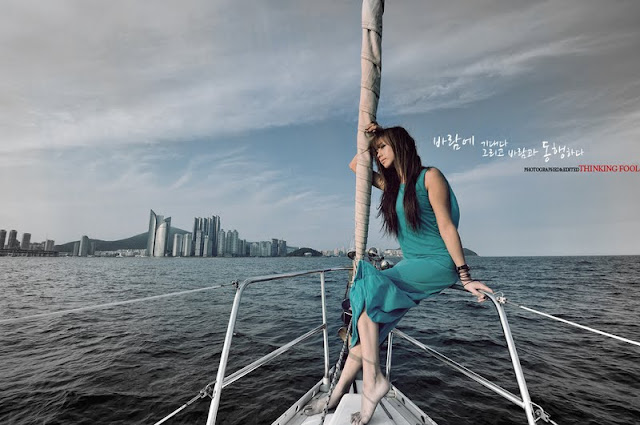 Kim Ha Yul on a Sailboat