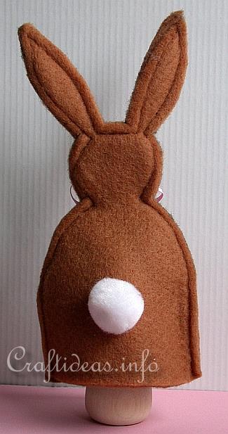 Fantoche de coelho feito em feltro