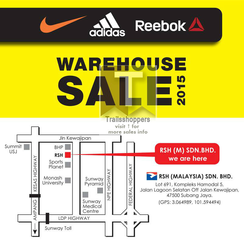 RSH Nike Adidas & Reebok Warehouse Sale 2015