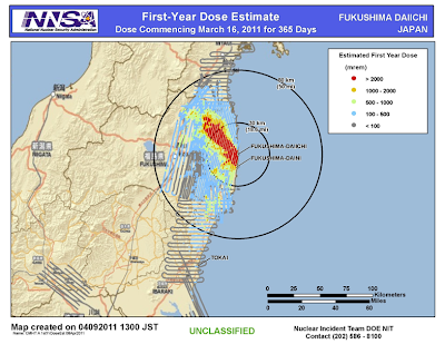 DOE NNSA Dose Evaluation for 1 year
