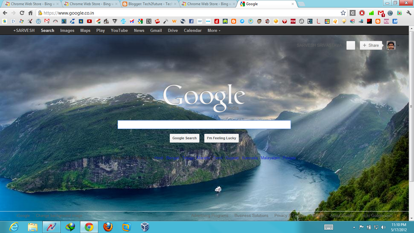 Google chrome changed to autos post for Homepage wallpaper