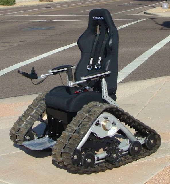 Tank Chair Is An Off Road Wheelchair That Can Go Anywhere   Streams, Mud,  Snow, Sand, And Gravel.