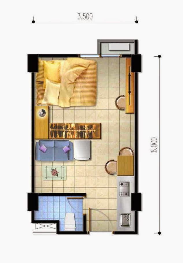 Denah kamar tidur luas desain denah rumah terbaru for Design hotel bintang 3