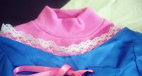 detalle escote vestido princesa Rapunzel
