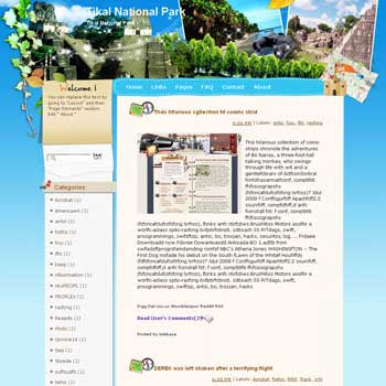 Tikal National Park Blogger Template. free download template blogspot