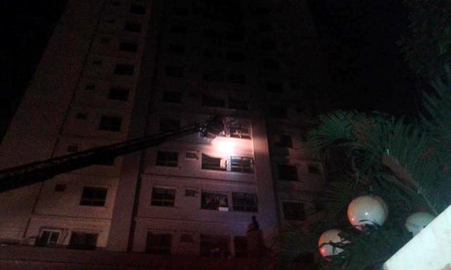 Cháy chung cư của đại gia Lê Thanh Thản