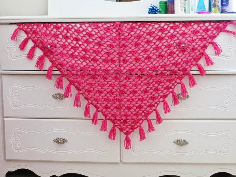Tyra Triangle Shawl Free Crochet Pattern Lacy Scarf Pattern