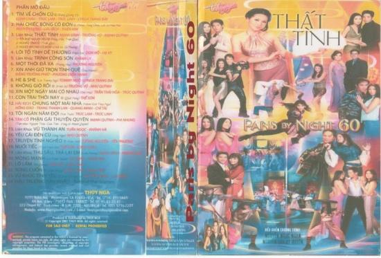 Paris By Night 60 (Thất Tình) - Thúy Nga VHS 077 ~ CD Nhạc