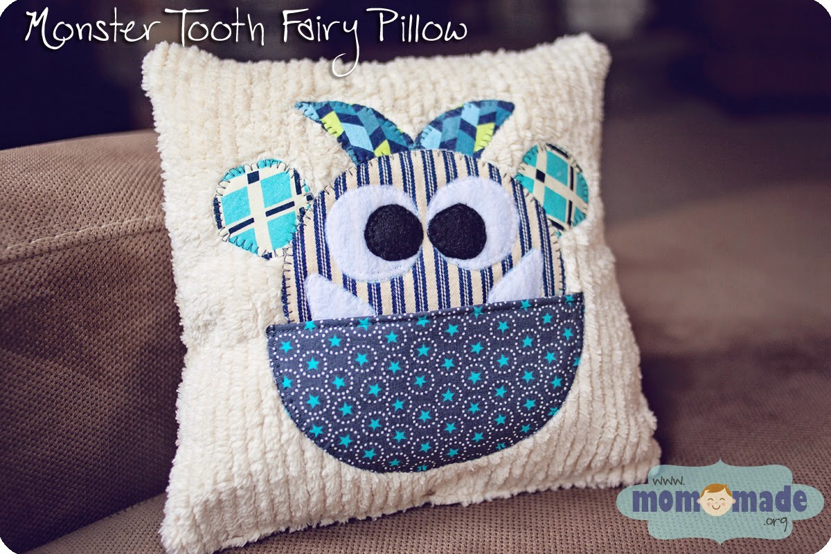 Monster Tooth Fairy Pillow by Mom-Made
