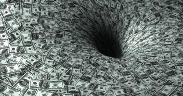 Image result for money is a black hole