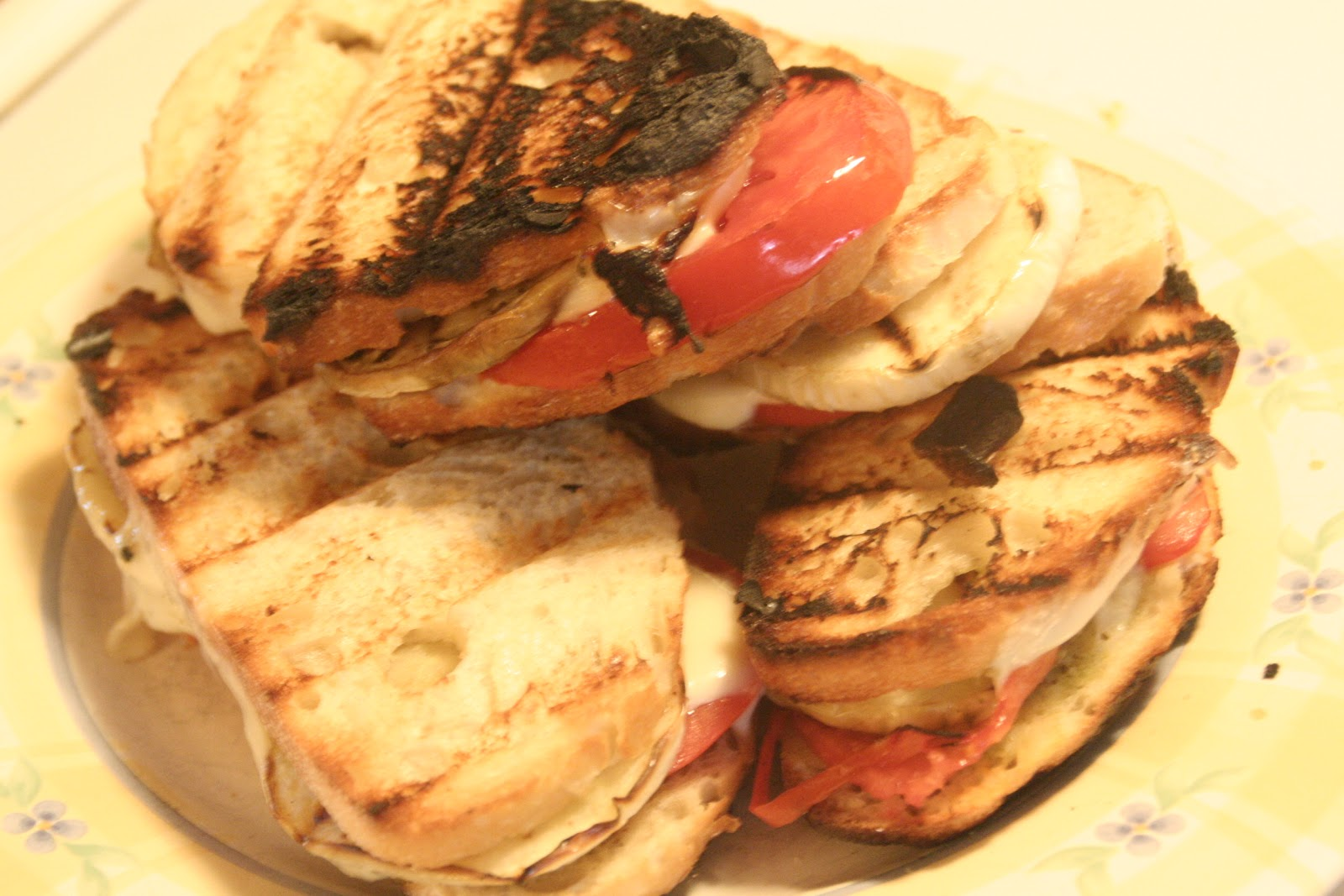 Tales from the Mad Men Kitchen: Eggplant Panini with Pesto
