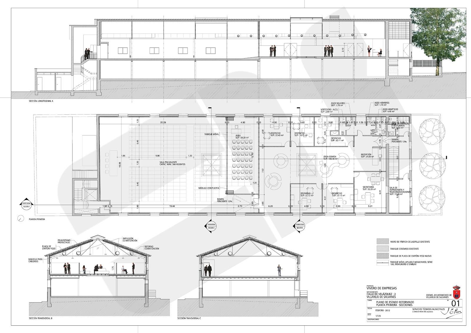Em arquitectos vivero de empresas en villarejo de salvan s for Estructura vivero