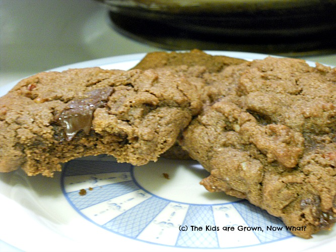 ... kids are grown, now what?: Triple Chocolate Chunk Cookies #GlutenFree