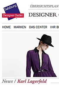 """Karl-Lagerfeld eröffnet Outlet in Salzburg Designer-Outlet m. """"Karl-Kollektion"""""""