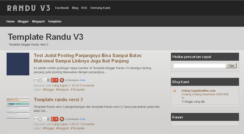Template blogger Randu Versi 3t