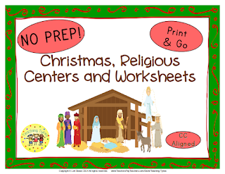 https://www.teacherspayteachers.com/Product/Christmas-Religious-Thematic-Centers-and-Worksheets-Common-Core-Aligned-889845