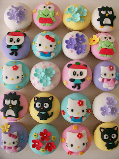 Hello Kitty and Sanrio family cute cupcakes