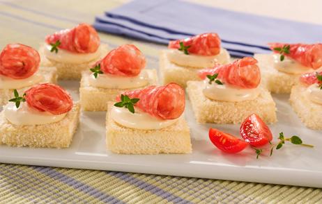 Dessert receita de petisco canap germ nico for Canapes simples e barato