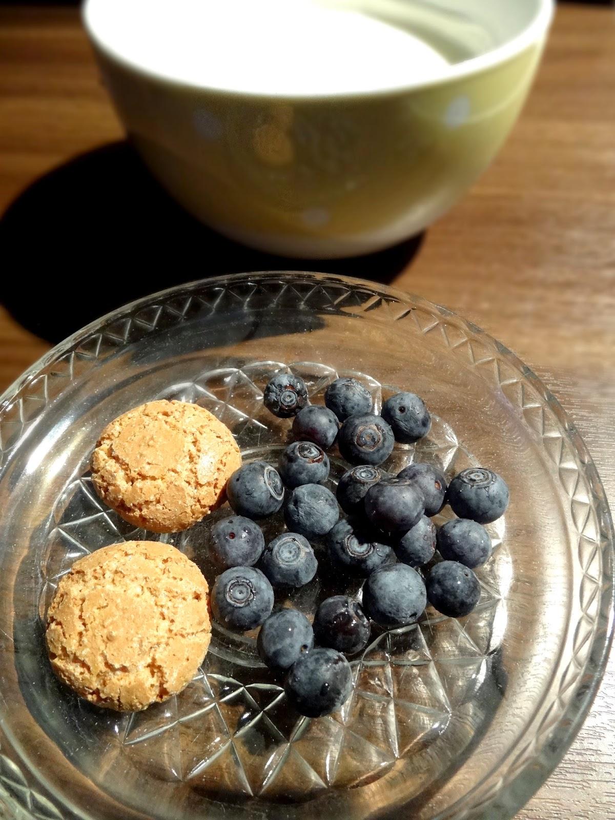 Sommerliches Heidelbeer-Dessert