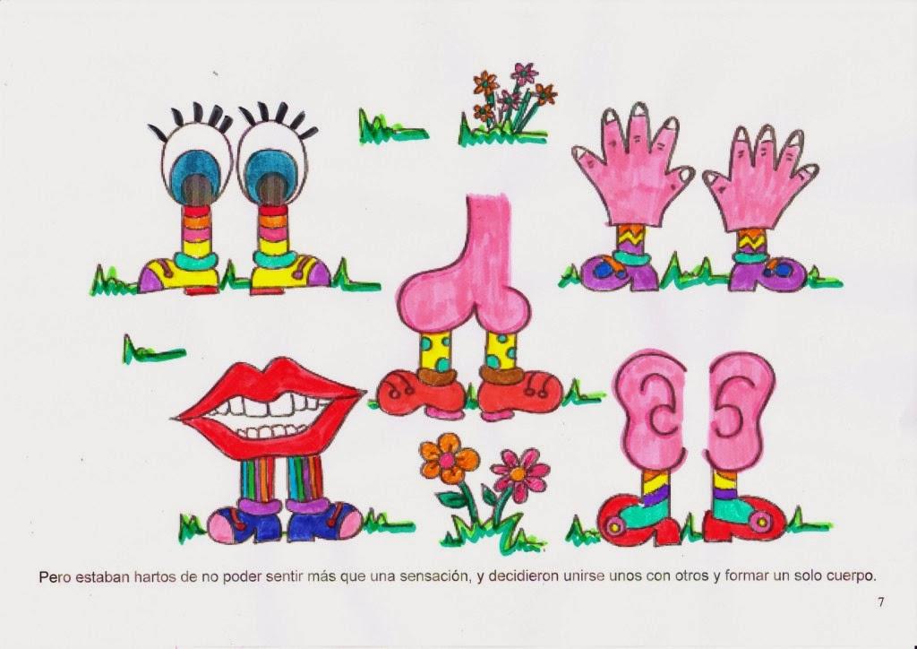 Rase una vez dos aulas de 4 a itos el pais de los 5 for Mural de los 5 sentidos