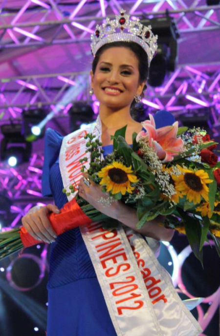 Miss World Philippines 2012 winner Queenierich Rehman