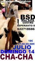 JULIO DOMINGO 14 CHA-CHA,  APRENDE A BAILAR CHA-CHA. EN BSD BAILAS MÁLAGA CENTRO.