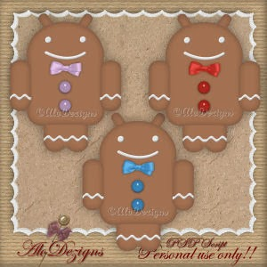 AloDezigns Facebook Bonus01 - Android GingerBreadMan