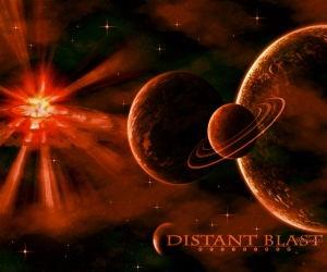 Distant blast abstract blast distant light planets for Space blast 3d