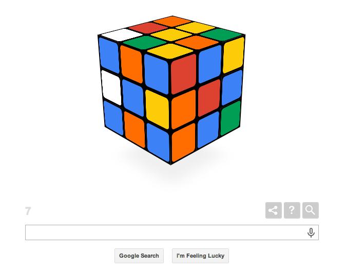 Doodle, Google, Rubic's Cube,