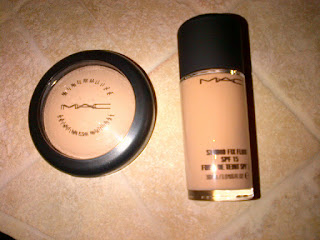 MAC studio fix fluid foundation mineralize skinfinish natural powder