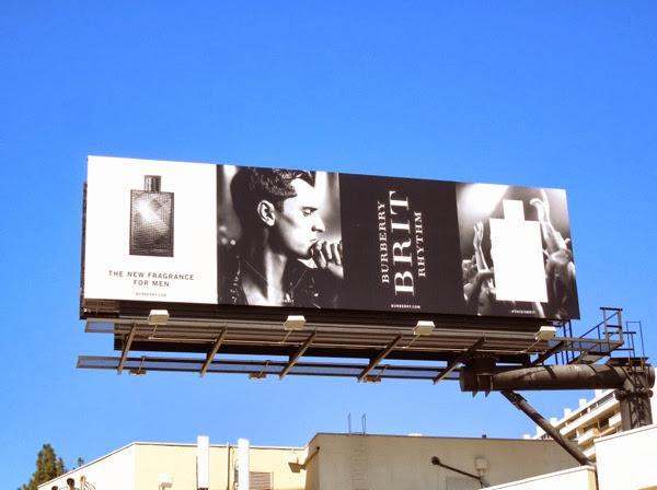 Burberry Brit Rhythm mens fragrance billboard