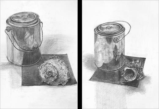 横浜美術学院の中学生教室 美術クラブ どこまで描けるか!「細密デッサン」完成作品2