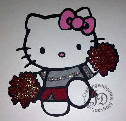 Crafting with jamie hello kitty cheerleader supplies cardstock american crafts ctmh stickles ranger cricut gypsy hello kitty greetings cartridge provo craft m4hsunfo
