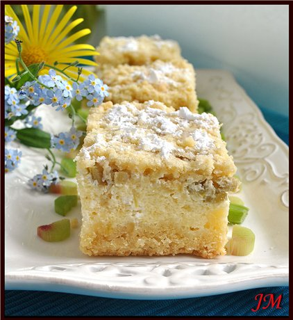 Творожно - ревеневый пирог
