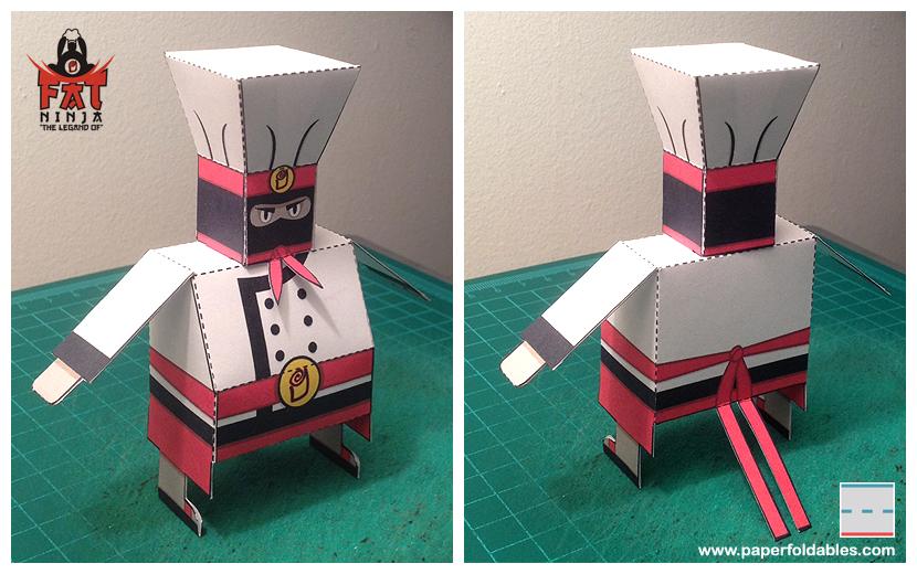 Fat Ninja Papercraft