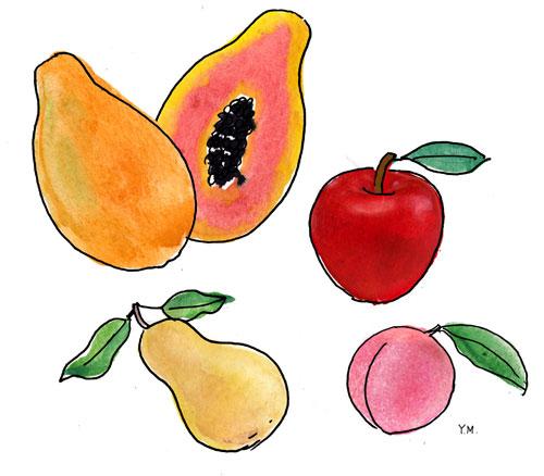 Fruits by Yukié Matsushita