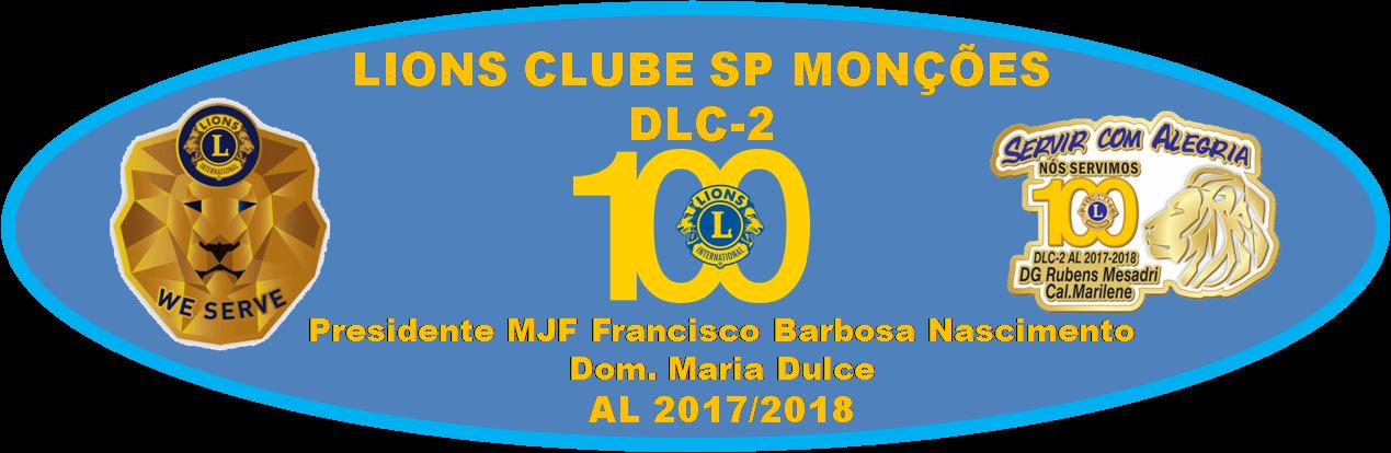 LIONS CLUBE SP MONÇÕES  - PRESIDENTE CL LUIZ AUGUSTO GONÇALVES BARBOSA