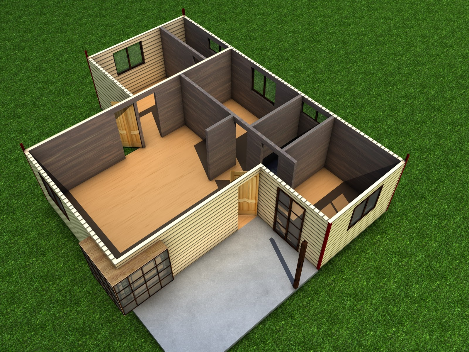 Casa prefabricada 60m2 casas y planos for Disenos y planos de casas prefabricadas