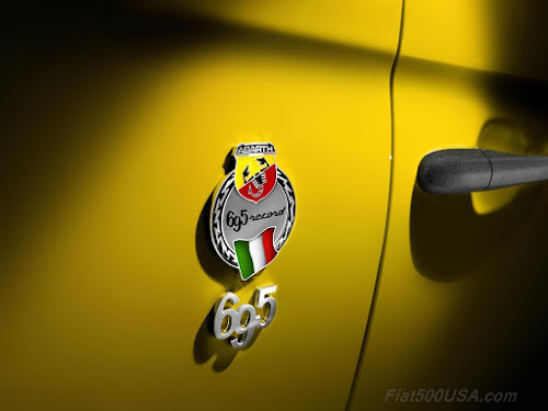 Abarth 695 Biposto Record Badge