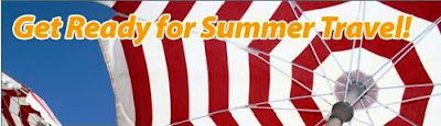 Summer travel tips banner.