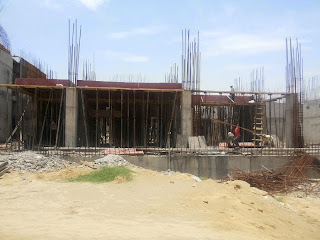 Golf Country, Yamuna Expressway :: Construction Status on July 2014:-Tower B-1 1BHK 690 sq ft