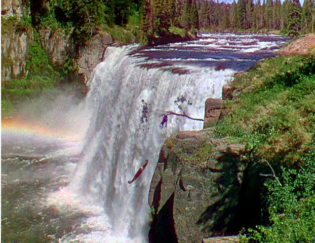 Image result for unconquered 1947 the waterfall scene