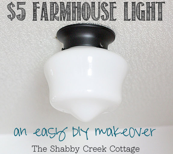 farmhouse light, schoolhouse light, light fixture, DIY, home decor, budget friendly, budget lighting, cheap lighting, light makeover, light fixture makeover, schoolhouse electric,